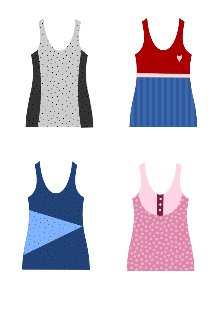 Beautiful Tank Top Schnittmuster Picture Collection - Decke Stricken ...