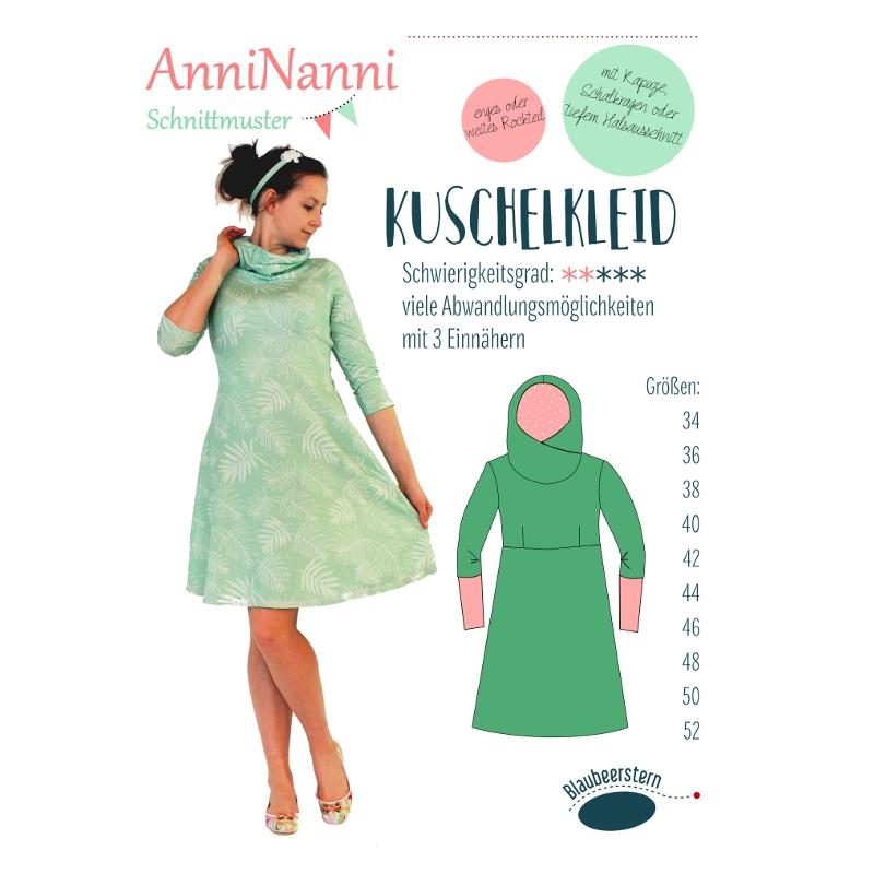 Papierschnittmuster Anninanni Kuschelkleid - AnniNanni Schnittmuster