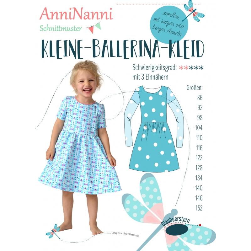 Papierschnittmuster AnniNanni kleine Ballerina-Kleid - AnniNanni ...