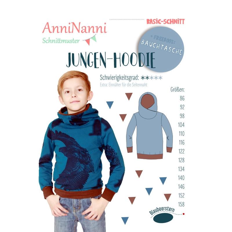 Papierschnittmuster Jungen- Hoody - AnniNanni Schnittmuster